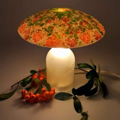 Fused Glass Woodland Lamp