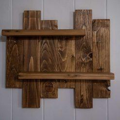Rustic Pallet Wood Shelving Unit.