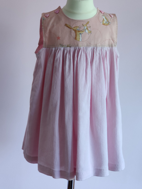 Pink Rabbits Dress by SerendipityGDDs, For Age 2