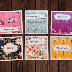 Floral notelets - Pack of 6