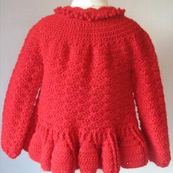 Red Designer Cardigan by SerendipityGDDs, Springtime, For Age 3 3