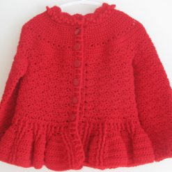 Red Designer Cardigan by SerendipityGDDs, Springtime, For Age 3 5