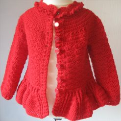Red Designer Cardigan by SerendipityGDDs, Springtime, For Age 3 4