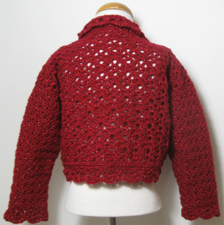 Red Sparkles Cardigan by SerendipityGDDs, For Age 4/5