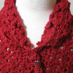 Red Sparkles Cardigan by SerendipityGDDs, For Age 4/5 2
