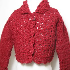 Red Sparkles Cardigan by SerendipityGDDs, For Age 4/5 4
