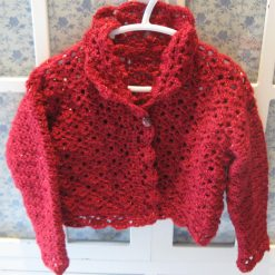 Red Sparkles Cardigan by SerendipityGDDs, For Age 4/5 3