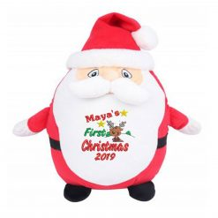 Mumbles Zippie Father Christmas Teddy Bear - Personalised Embroidered First Christmas Reindeer Design