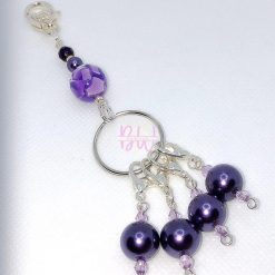 Purple beaded stitch marker