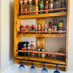 Shelving unit, Drinks cabinet, spice cabinet, unique storage, Harley Davidson, Biker bar, biker man cave, Home bar, unique, handcrafted
