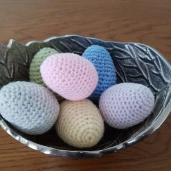 Set of 3 Easter eggs, set of 6 eggs, Crochet Easter eggs, Pastel Easter eggs, Handmade Easter eggs, assorted colours, Easter Decoration