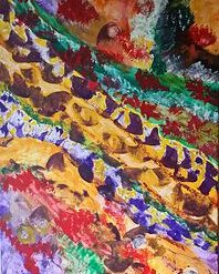 UNKNOWN TERRITORY – 36 X 24 INCH ABSTRACT ON CANVAS (ORIGINAL ART DIRECT)