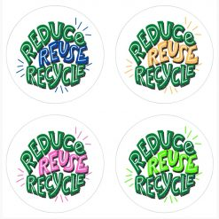 Reduce Reuse Recylce Stickers