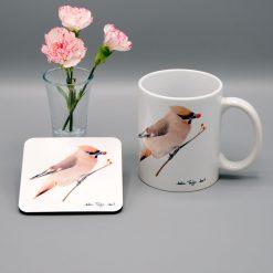 Waxwing Mug and Coaster Set