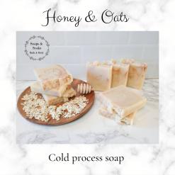 Handmade Artisan honey and oats cold process soap ,Artisan Soap ,vegan friendly ,cruelty free ,luxury skincare ,free postage uk ,bathandbeauty ,soaps ,gift ideas ,CPSR
