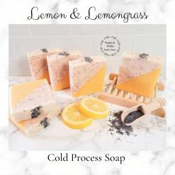 Handmade Artisan Lemon Lemongrass and Poppy seed cold process soap , Free postage uk ,Cruelty free ,Artisan Soap ,vegan friendly ,Luxury skincare ,bathandbeauty ,essential oils ,soap,Gift