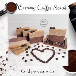 Handmade Artisan CREAMY COFFEE SCRUB cold process soap ,Soap ,Handmade soaps ,Artisan Soap ,vegan friendly ,cruelty free ,luxury skincare ,free postage uk ,CPSR ,bathandbeauty ,Coffee soap