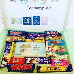 Sweet box, selection of sweets and chocolate, birthday gift, dads birthday, mums birthday, daughter gift, son gift, thank you gift