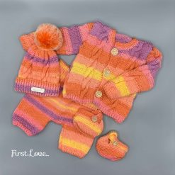 Stunning Hand Knitted Car Seat Blanket