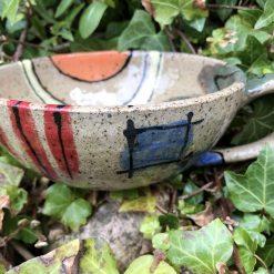Abstract design cappuccino style mug