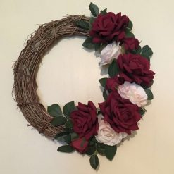 Red Rose Vine wreath
