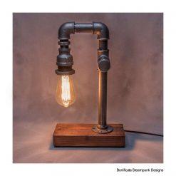 Steampunk Lamp + Free Bulb - Rustic / Farmhouse / Industrial - Handmade Edison E27 Lighting (Copy)