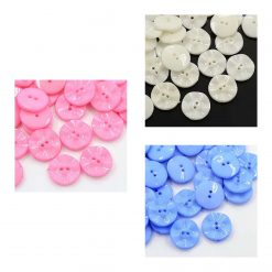 Acrylic Round Button 15mm 40 per bag