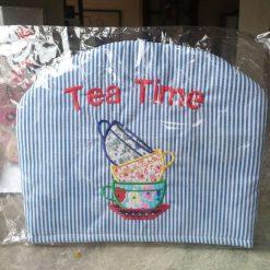 Blue/white striped Tea Cosy