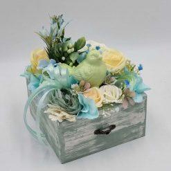 Floral Arrangement in Wooden box, Home Decoration
