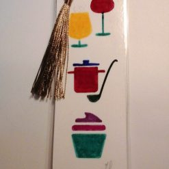 Hand Painted Food & Drink Laminated Bookmark (a) 2
