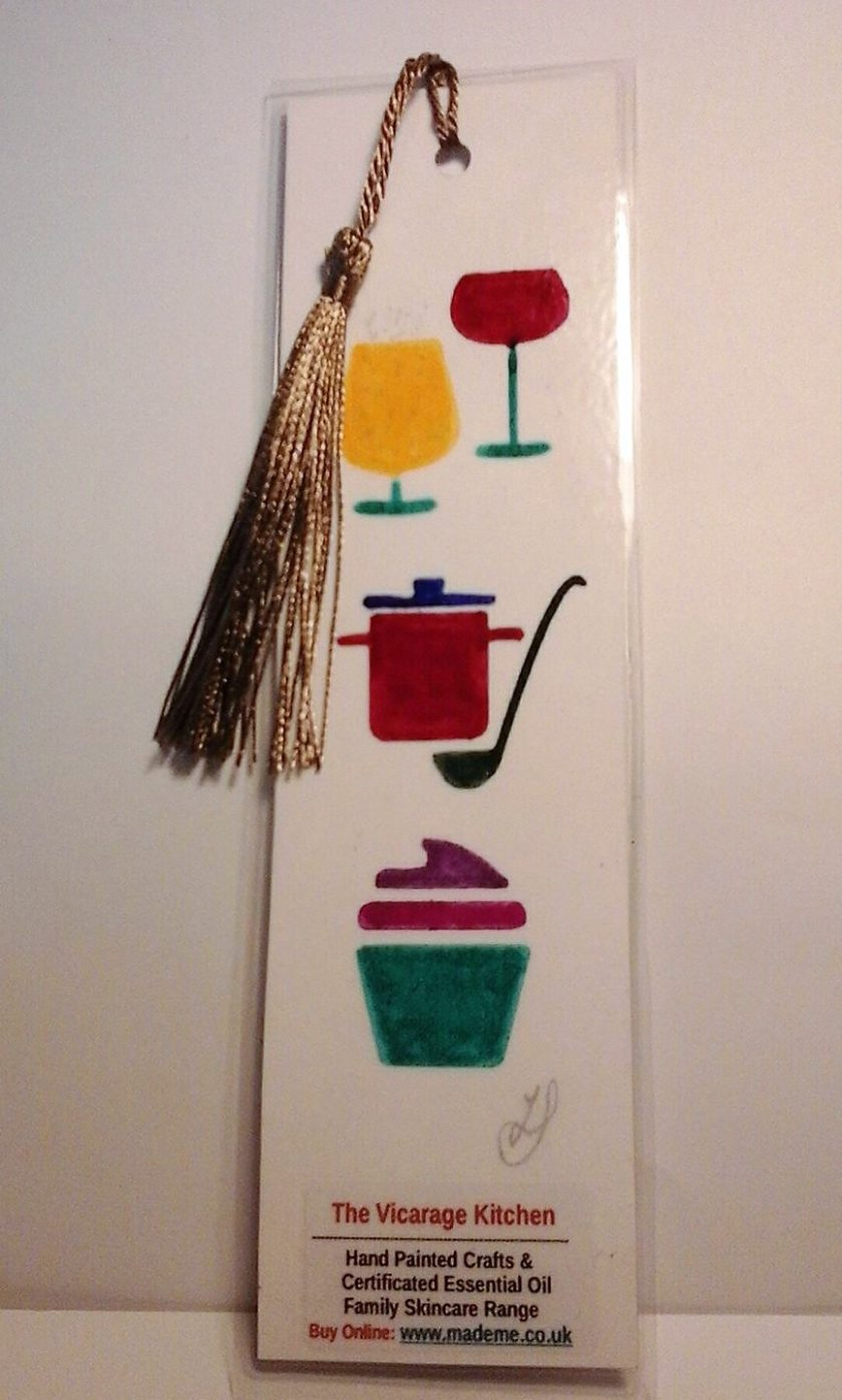 Hand Painted Food & Drink Laminated Bookmark (a)
