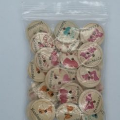 "Assorted 20mm ""Handmade"" Wooden Buttons"