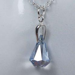 Raindrop crystal pendant necklace