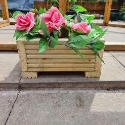 30cm square Wooden Decking Planter/window Box/trough/garden/herb/flower box