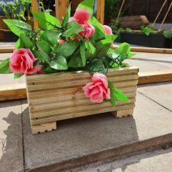 30cm Long Wooden Decking Planter/window Box/trough/garden/herb/flower