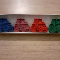 Tractor shaped crayons