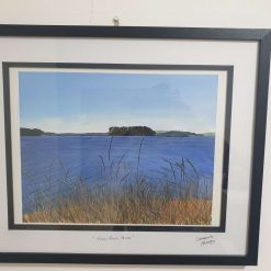 View from Arne - A Limited Edition high quality giclee print from an original acrylic painting by local Poole artist Caroline Marks