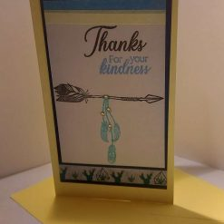 handmade thankyou card