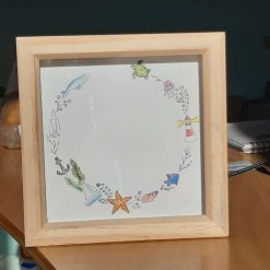 Under the sea personalised name art.