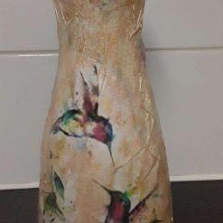 Decoupaged Tall Vase