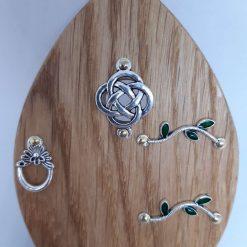 Fairy Door Wooden Celtic Knot Garden Tree Home Hand Made Cornish Oak