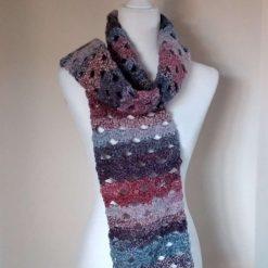 Crochet shell stitch scarf