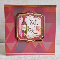 A 6x6 card for a wine drinker