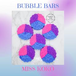 Handmade MISS KOKO bubble bar /solid luxury bubble bath ,free postage uk ,CPSR ,vegan friendly ,cruelty free ,luxury skincare ,Bath treat ,bathandbeauty ,