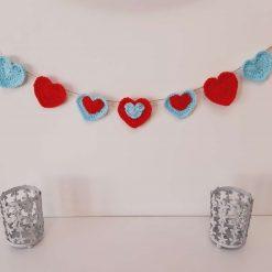 Cath Kidston inspired crochet hearts garland