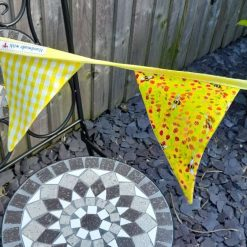 Bunting.  Bee..utiful bees and yellow gingham
