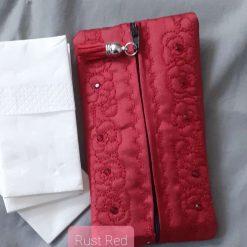 Rust Red Tissue /Wetwipe sachet