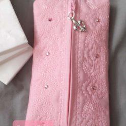 Pretty Pink Tissue /Wetwipe sachet
