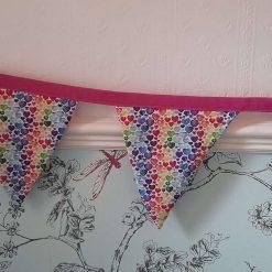 Bunting. Rainbow hearts design