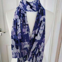 Very Pretty Handmade Lightweight Chiffon Scarf, Wrap, Shawl, Scarves, Gift, Letter Box Gift